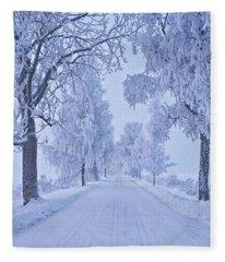 Frosted Trees Fleece Blanket