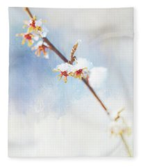 Frosted Witch Hazel Blossoms  Fleece Blanket