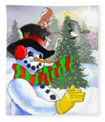 Frosty And Friends Fleece Blanket