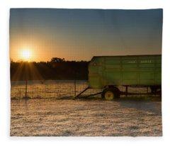 Frosty John Deere Sunrise Fleece Blanket