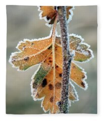 Frosty Leaf Fleece Blanket