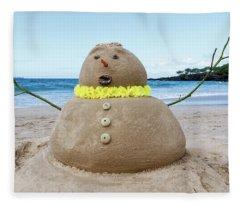 Frosty The Sandman Fleece Blanket