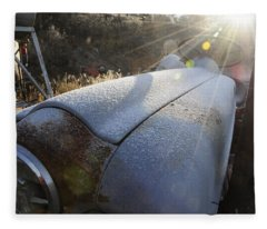 Frosty Tractor Fleece Blanket