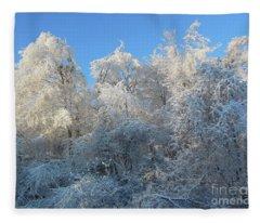 Frosty Trees Fleece Blanket