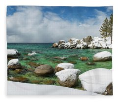 Frozen Aquas By Brad Scott Fleece Blanket