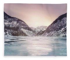 Frozen By The Sun Fleece Blanket
