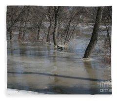 Frozen Floodwaters Fleece Blanket