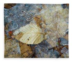 Frozen In Ice  Fleece Blanket