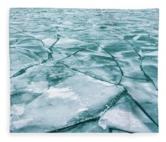 Frozen Lake Fleece Blanket