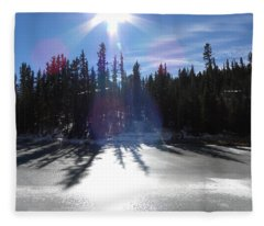 Sun Reflecting Kiddie Pond Divide Co Fleece Blanket