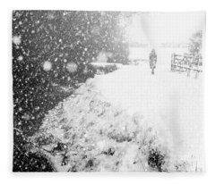 Frozen Moments - Walking Away Fleece Blanket