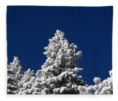Frozen Tranquility Ute Pass Cos Co Fleece Blanket