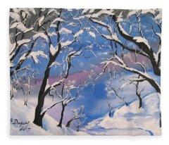 Frozen Tranquility  Fleece Blanket