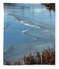 Frozen Waves Fleece Blanket
