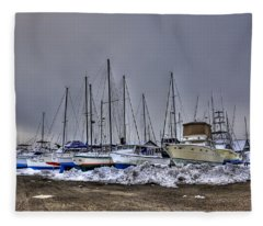 Frozen Waves Fleece Blanket