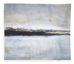 Frozen Winter Lake Fleece Blanket