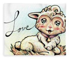 Fruit Of The Spirit Love Fleece Blanket