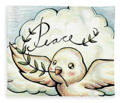 Fruit Of The Spirit Peace Fleece Blanket