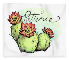 Fruit Of The Spirit Series 2 Patience Fleece Blanket
