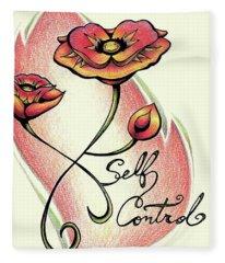 Fruit Of The Spirit Series 2 Self Control Fleece Blanket