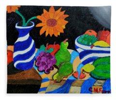 Fruitful Still Life Fleece Blanket
