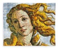Fruity Venus I Am So Sorry Mr Boticelli Fleece Blanket