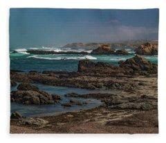 Ft Bragg Coast Fleece Blanket