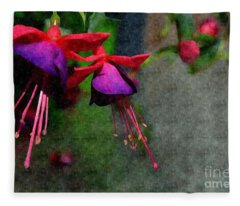 Fuchsia's Beating As One Together -silk Edit Fleece Blanket