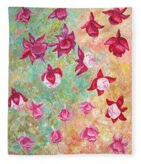 Fuchsias Fleece Blanket
