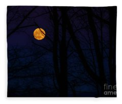 Full Moon And Belt Of Venus Fleece Blanket