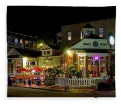 Full Moon Cafe Hdr Fleece Blanket
