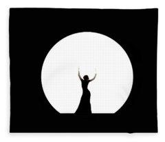 Full Moon Dance Fleece Blanket