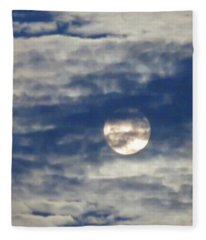 Full Moon In Gemini With Clouds Fleece Blanket