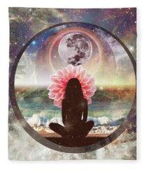 Full Moon Meditation  Fleece Blanket