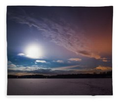 Full Moon Nightscape Fleece Blanket
