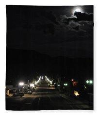 Full Moon Over Red River Fleece Blanket