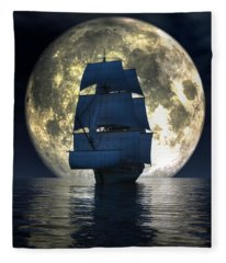 Full Moon Pirates Fleece Blanket