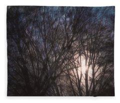 Full Moon Rising Fleece Blanket