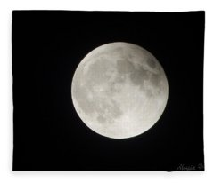 Full Planet Moon Fleece Blanket