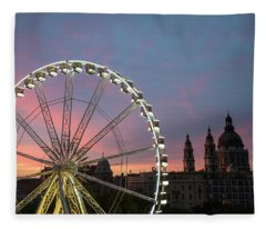 Fleece Blanket featuring the photograph Fun And Games by Alex Lapidus