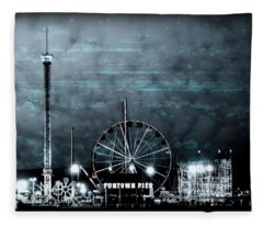 Fun In The Dark - Jersey Shore Fleece Blanket