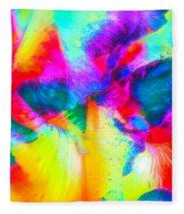 Fun With Flowers Fleece Blanket