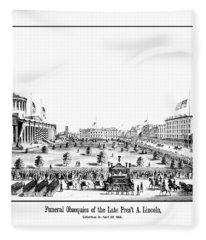 Funeral Obsequies Of President Lincoln Fleece Blanket