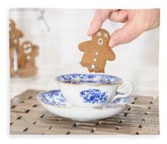 Funny Gingerbread Fleece Blanket
