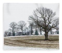 Furrows In The Snow 1 Fleece Blanket