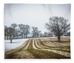 Furrows In The Snow 2 Fleece Blanket