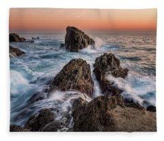 Fury Of The Sea Fleece Blanket