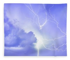 Fury Of The Storm Fleece Blanket