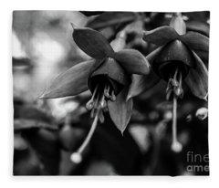 Fuchsia, Black And White Fleece Blanket