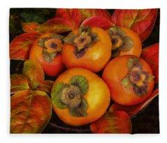 Fuyu Persimmons Fleece Blanket